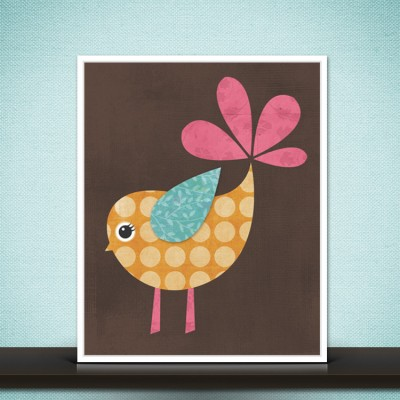 Bird Print - Woodland Nursery Wall Art