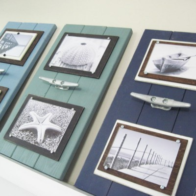 turquoise boat cleat frame set
