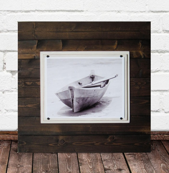 large square distressed wood beach frames