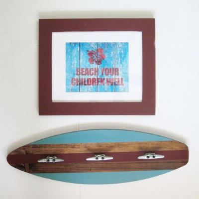 sufboard coat rack