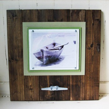 dark wood plank frame 6
