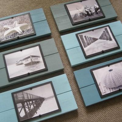 turquoise plank frame set 4