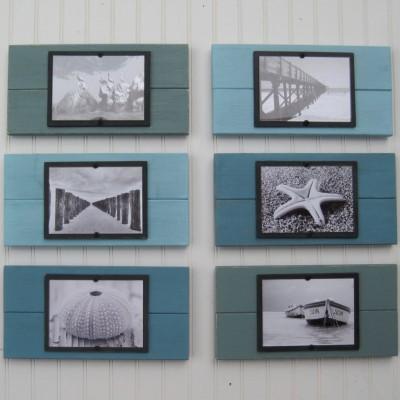 turquoise plank frame set 3