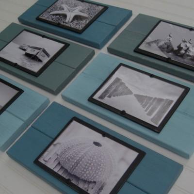 turquoise plank frame set 2