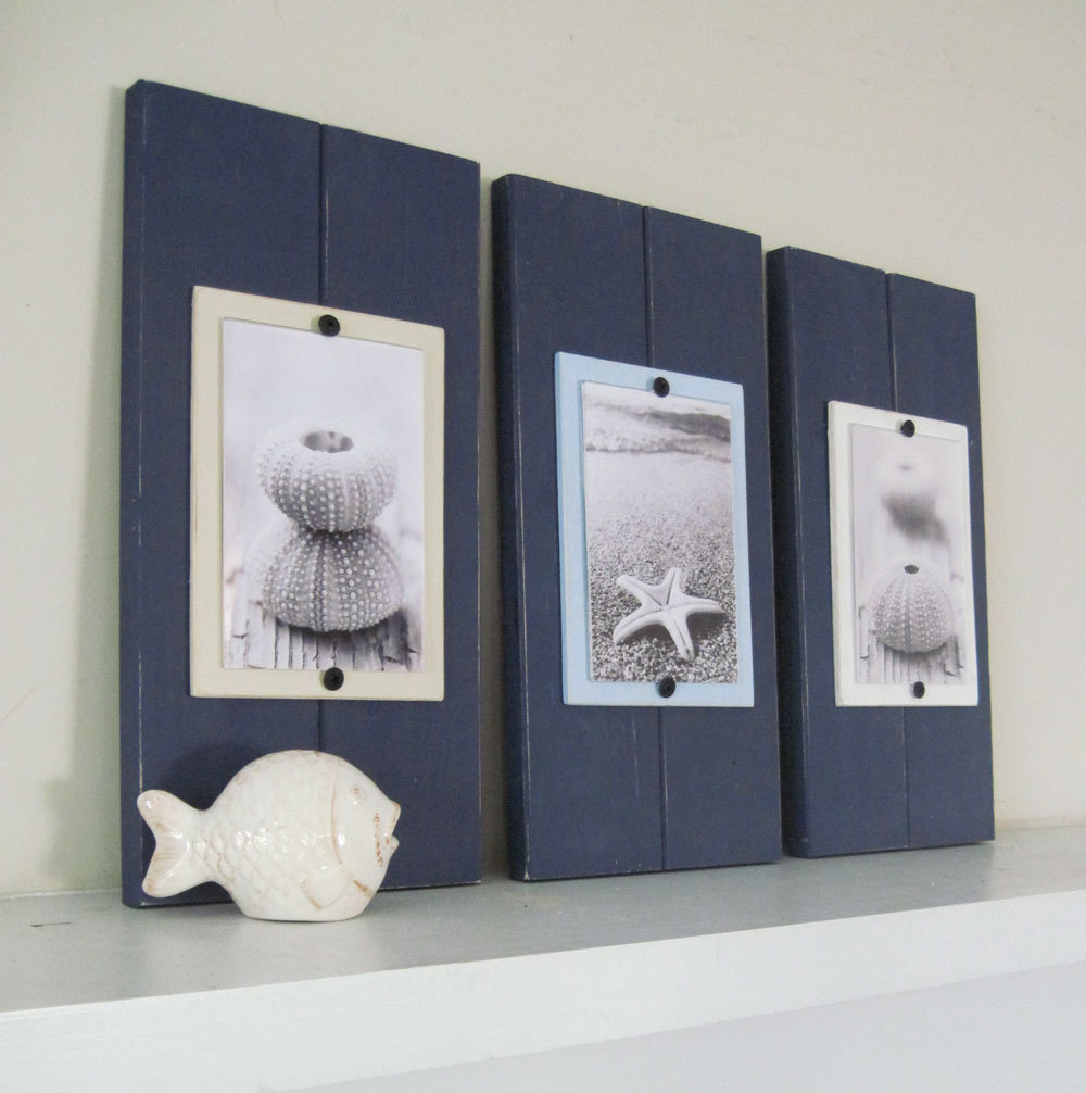 Set of three navy blue small plank frames for 4x6 pictures set of three navy blue small plank frames for 4x6 pictures jeuxipadfo Gallery