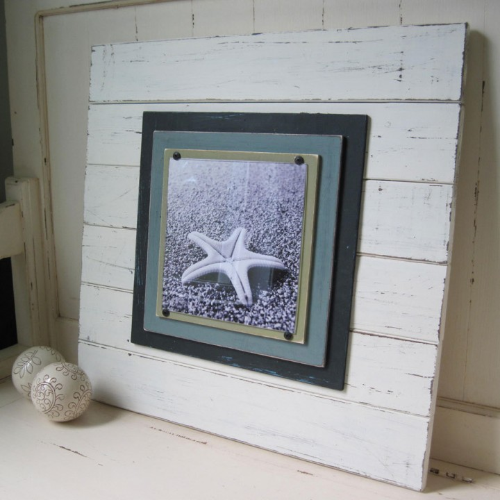 X-tra large distressed plank frame