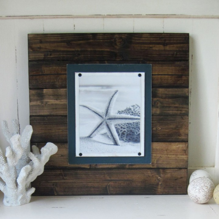 extra large dark wood plank frame 4