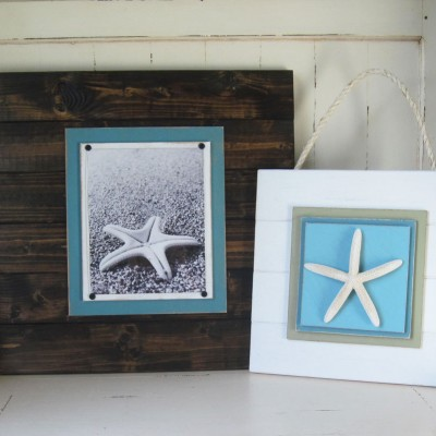 extra large dark wood plank frame 3