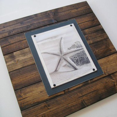 extra large dark wood plank frame 2