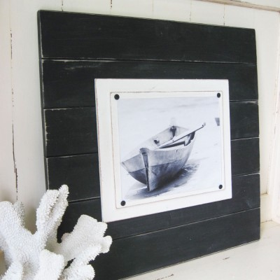 extra large black distressed plank frame 3