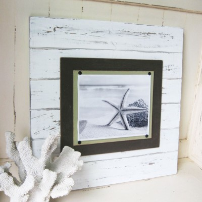 large white distressed plank frame 4