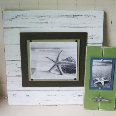 large white distressed plank frame 3