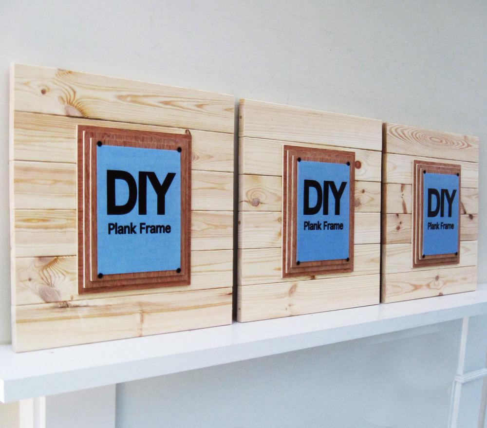 Set of 3 Extra Large DIY PLANK FRAMES- Project Cottage