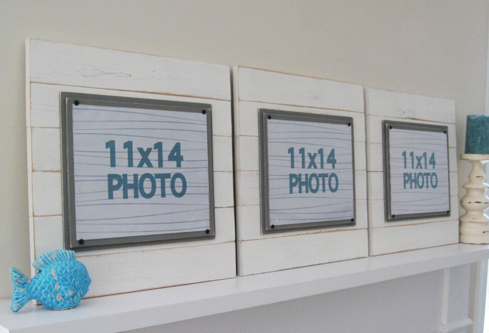 Set of Three Big Antique White Plank Frame Set for 11x14- Project ...