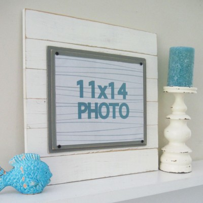 antique plank frame set 4