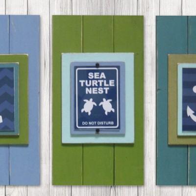 Framed Nautical Nursery Print Set