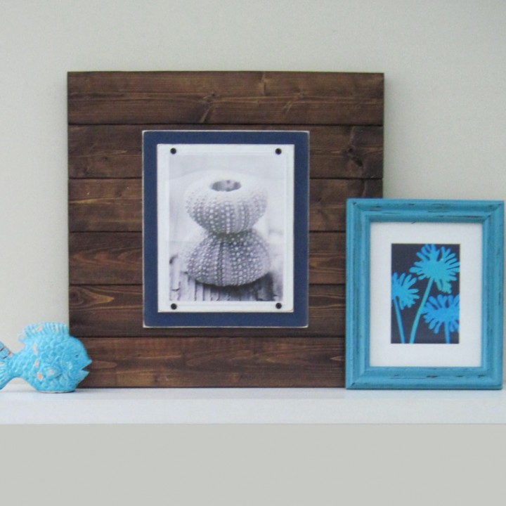 dark wood plank frame 2