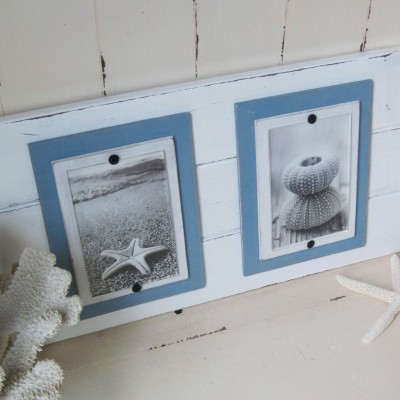 distressed double plank frame 3