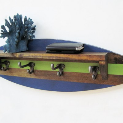 surfboard shelf coat rack