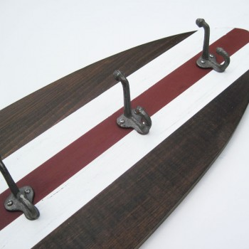 dark wood surfboard coat rack 4