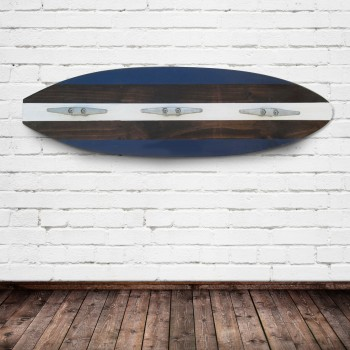 navy surfboard coat rack
