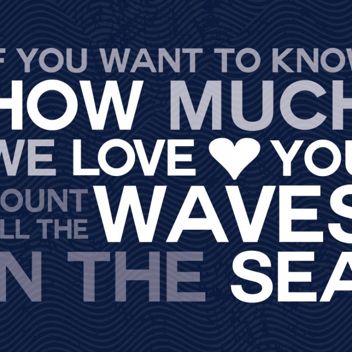 Count All the Waves Print – Navy Blue