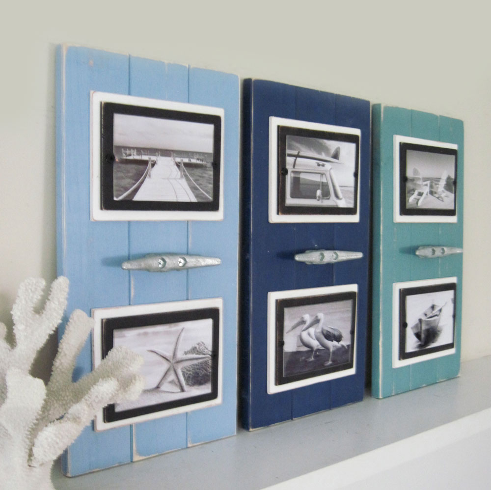 Set of three double cleat frames nautical focal point project cottage set of cleat frames jeuxipadfo Gallery