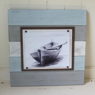 multicolored plank frame