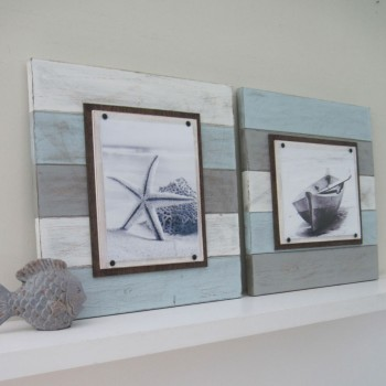 multicolored plank frame set