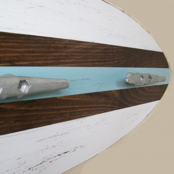 nautical surfboard coat rack