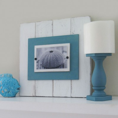 Turquoise Plank Frame