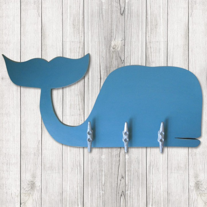 Small Whale Coat Rack