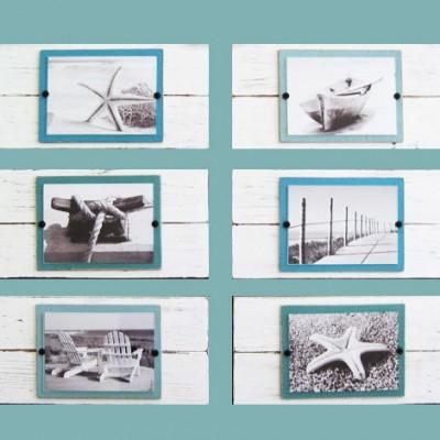white over stain plank frame set