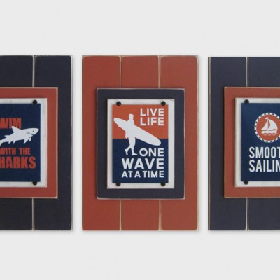 Set of 3 Surf Wisdom Framed Prints