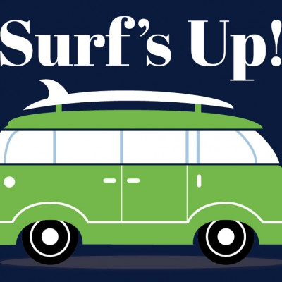 Surfer Van Print for Kids