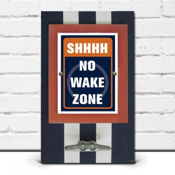 Shhhh, No Wake Zone Framed Print