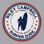 Personalized Surfer Dude Print Pick your colors!