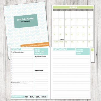 2014 Day Planner - The Project Cottage