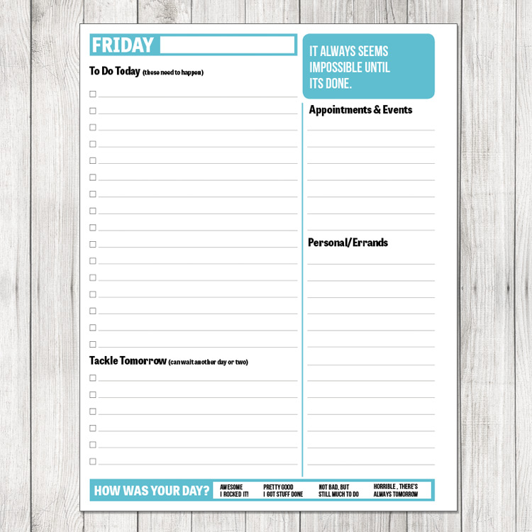 2014 Daily Planner Printable Project Cottage – Printable Day Planner