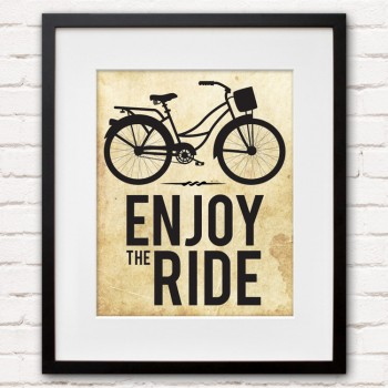 Enjoy the Ride Bicycle Print or Canvas