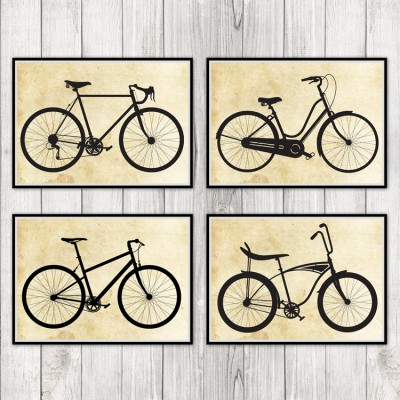 Set of 4 Bicycle Prints