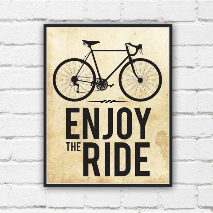 Enjoy The Ride Bicycle Print