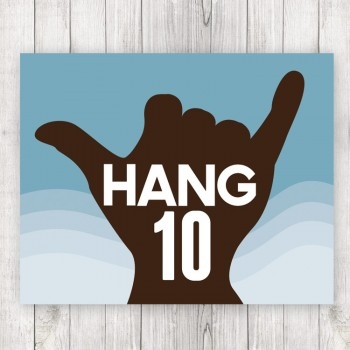 Hang Ten Framed Surf Print