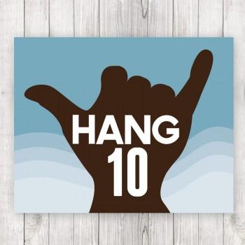 Hang Ten Framed Surf Print