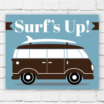 Surfer Van Print