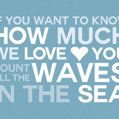 Count All the Waves Nautical Nursery Print