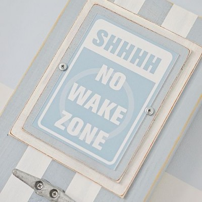 No Wake Zone Light Blue and White