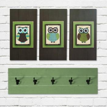 Framed Owl Print Set
