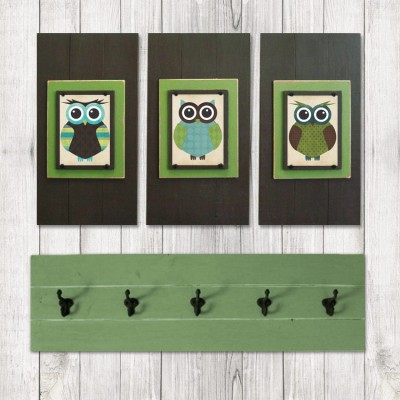 Framed Owl Print Set