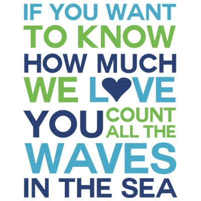 Count all the Waves Nursery Print